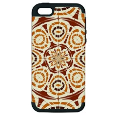 Brown And Tan Abstract Apple Iphone 5 Hardshell Case (pc+silicone) by linceazul