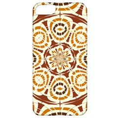 Brown And Tan Abstract Apple Iphone 5 Classic Hardshell Case by linceazul