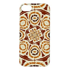 Brown And Tan Abstract Apple Iphone 5s/ Se Hardshell Case by linceazul