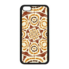 Brown And Tan Abstract Apple Iphone 5c Seamless Case (black) by linceazul