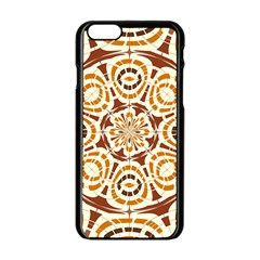 Brown And Tan Abstract Apple Iphone 6/6s Black Enamel Case by linceazul