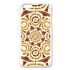 Brown And Tan Abstract Apple Iphone 6 Plus/6s Plus Enamel White Case by linceazul
