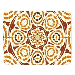 Brown And Tan Abstract Double Sided Flano Blanket (large)
