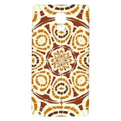Brown And Tan Abstract Galaxy Note 4 Back Case by linceazul
