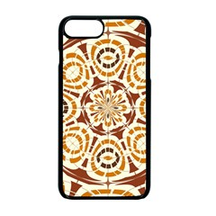 Brown And Tan Abstract Apple Iphone 7 Plus Seamless Case (black) by linceazul