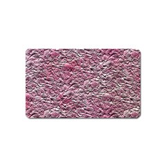 Leaves Pink Background Texture Magnet (name Card) by Nexatart