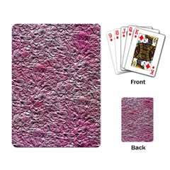 Leaves Pink Background Texture Playing Card