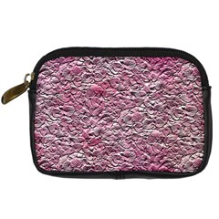 Leaves Pink Background Texture Digital Camera Cases