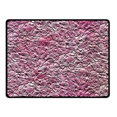 Leaves Pink Background Texture Fleece Blanket (small) by Nexatart