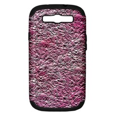 Leaves Pink Background Texture Samsung Galaxy S Iii Hardshell Case (pc+silicone)