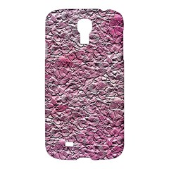 Leaves Pink Background Texture Samsung Galaxy S4 I9500/i9505 Hardshell Case by Nexatart