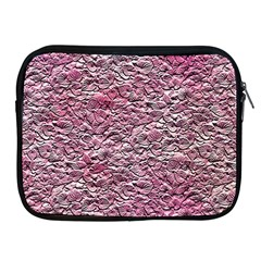 Leaves Pink Background Texture Apple Ipad 2/3/4 Zipper Cases by Nexatart