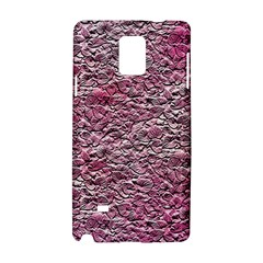 Leaves Pink Background Texture Samsung Galaxy Note 4 Hardshell Case