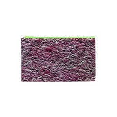 Leaves Pink Background Texture Cosmetic Bag (xs) by Nexatart