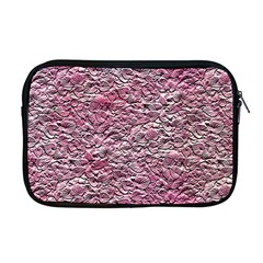 Leaves Pink Background Texture Apple Macbook Pro 17  Zipper Case by Nexatart
