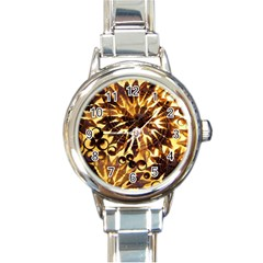 Mussels Lamp Star Pattern Round Italian Charm Watch