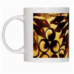 Mussels Lamp Star Pattern White Mugs