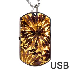 Mussels Lamp Star Pattern Dog Tag Usb Flash (one Side) by Nexatart