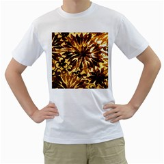 Mussels Lamp Star Pattern Men s T-shirt (white)  by Nexatart