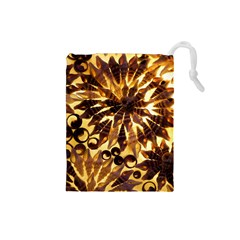 Mussels Lamp Star Pattern Drawstring Pouches (small)  by Nexatart