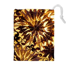 Mussels Lamp Star Pattern Drawstring Pouches (extra Large)