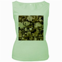 Color Abstract Background Textures Women s Green Tank Top