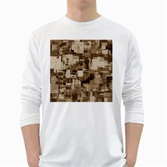 Color Abstract Background Textures White Long Sleeve T Shirts