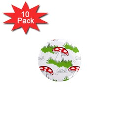 Mushroom Luck Fly Agaric Lucky Guy 1  Mini Magnet (10 Pack)