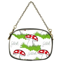 Mushroom Luck Fly Agaric Lucky Guy Chain Purses (one Side)  by Nexatart