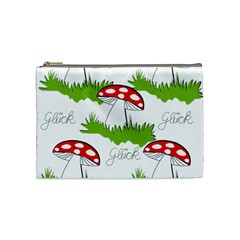Mushroom Luck Fly Agaric Lucky Guy Cosmetic Bag (medium)  by Nexatart