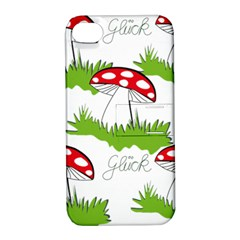 Mushroom Luck Fly Agaric Lucky Guy Apple Iphone 4/4s Hardshell Case With Stand by Nexatart
