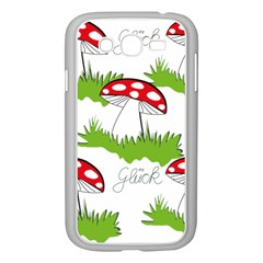 Mushroom Luck Fly Agaric Lucky Guy Samsung Galaxy Grand Duos I9082 Case (white) by Nexatart