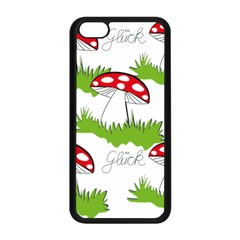 Mushroom Luck Fly Agaric Lucky Guy Apple Iphone 5c Seamless Case (black) by Nexatart