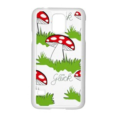 Mushroom Luck Fly Agaric Lucky Guy Samsung Galaxy S5 Case (white) by Nexatart