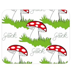 Mushroom Luck Fly Agaric Lucky Guy Double Sided Flano Blanket (medium)  by Nexatart
