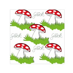 Mushroom Luck Fly Agaric Lucky Guy Small Satin Scarf (square)
