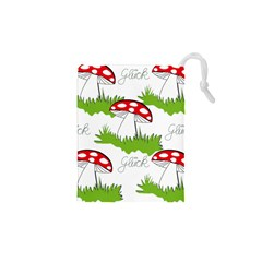 Mushroom Luck Fly Agaric Lucky Guy Drawstring Pouches (xs)  by Nexatart