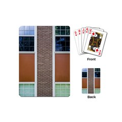 Pattern Symmetry Line Windows Playing Cards (mini)  by Nexatart