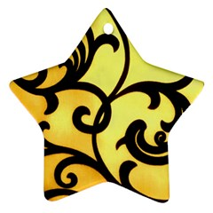 Texture Pattern Beautiful Bright Star Ornament (two Sides) by Nexatart