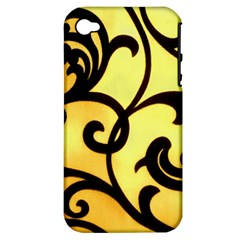 Texture Pattern Beautiful Bright Apple Iphone 4/4s Hardshell Case (pc+silicone) by Nexatart