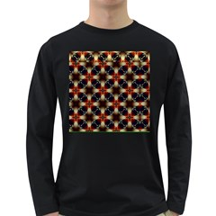 Kaleidoscope Image Background Long Sleeve Dark T-shirts by Nexatart