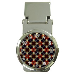 Kaleidoscope Image Background Money Clip Watches