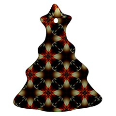 Kaleidoscope Image Background Christmas Tree Ornament (two Sides)