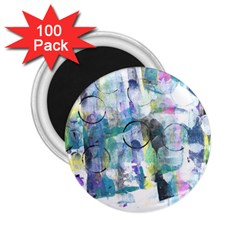 Background Color Circle Pattern 2 25  Magnets (100 Pack)