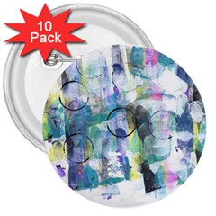 Background Color Circle Pattern 3  Buttons (10 Pack)