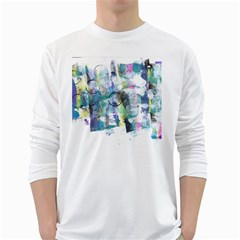 Background Color Circle Pattern White Long Sleeve T Shirts