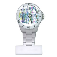 Background Color Circle Pattern Plastic Nurses Watch by Nexatart