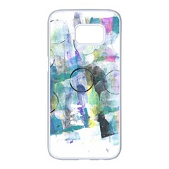 Background Color Circle Pattern Samsung Galaxy S7 Edge White Seamless Case by Nexatart