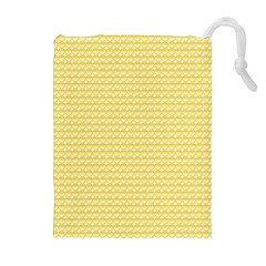 Pattern Yellow Heart Heart Pattern Drawstring Pouches (extra Large) by Nexatart