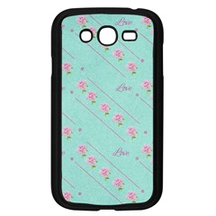 Flower Pink Love Background Texture Samsung Galaxy Grand Duos I9082 Case (black)